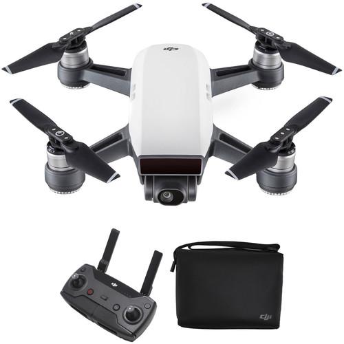 DJI Spark Quadcopter with Remote Controller & Shoulder Bag Kit (Alpine White)