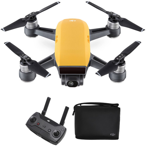 DJI Spark Quadcopter with Remote Controller & Shoulder Bag Kit (Sunrise Yellow)