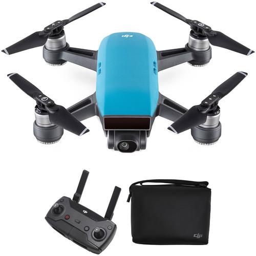 DJI Spark Quadcopter with Remote Controller & Shoulder Bag Kit (Sky Blue)
