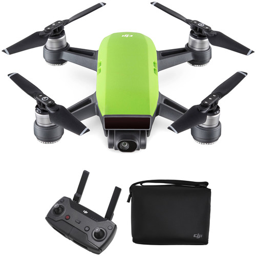 DJI Spark Quadcopter with Remote Controller & Shoulder Bag Kit (Meadow Green)