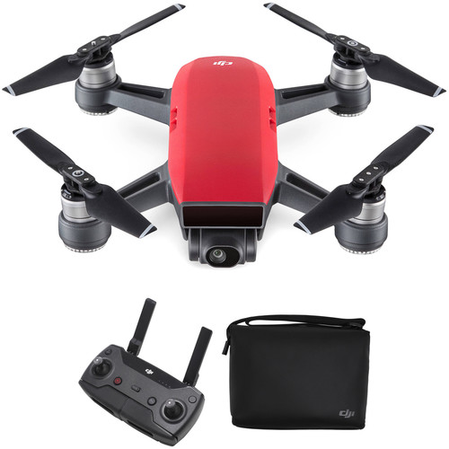 DJI Spark Quadcopter with Remote Controller & Shoulder Bag Kit (Lava Red)