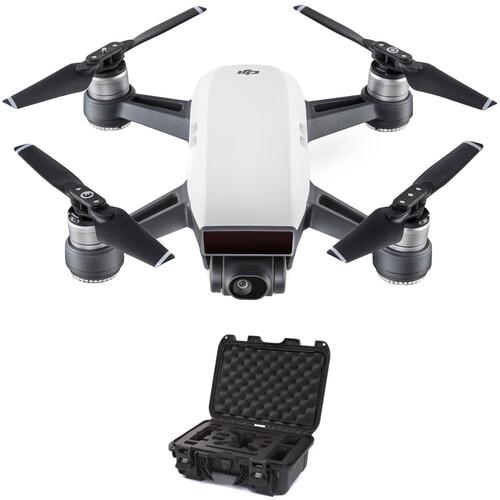 DJI Spark Quadcopter Kit with Hard Case (Alpine White/Black)