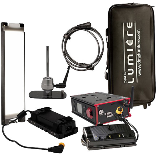DMG LUMIERE MINI Switch WDMX AC/DC Kit with Lolly Pop Mount, Gold Mount Battery Plate and Bag