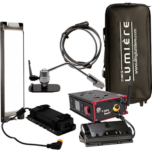 DMG LUMIERE MINI Switch WDMX AC/DC Kit with Offset Mount, Gold Mount Battery Plate and Bag