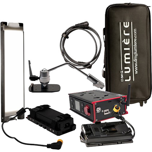 DMG LUMIERE Mini Switch Kit AC-DC Wireless Dmxwith Offset Mount /V-Mount with Bag On Wheels