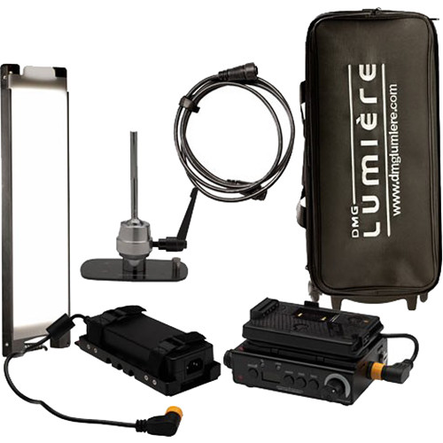 DMG LUMIERE Mini Switch Kit AC-DC with Lolly Pop Mount  Gold-Mount with Bag On Wheels