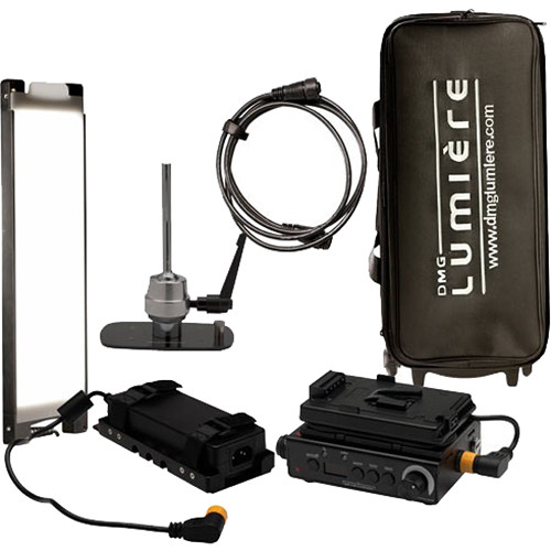 DMG LUMIERE MINI Switch AC/DC Kit with Lolly Pop Mount & V-Mount Battery Plate and Bag