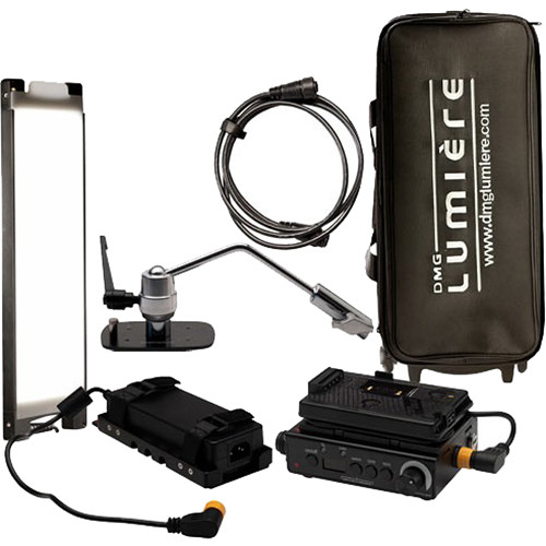 DMG LUMIERE Mini Switch Kit AC-DC with Offset Mount  Gold-Mount with Bag On Wheels