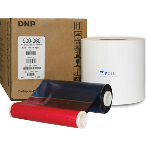 "DNP 6x8"" Media for Kodak 6800 and 6850 Printers (1 Roll and 1 Ribbon)"