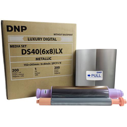 "DNP 6 x 8"" Luxury Metallic Media Set for DS40 Photo Printer"