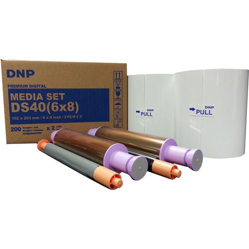 "DNP 6 x 8"" Triple Strip Media Set for DS40 (2 Rolls)"