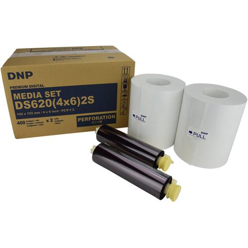 "DNP 4 x 6"" Center Perforated Media Set for DSA620A Printer (2-Pack)"