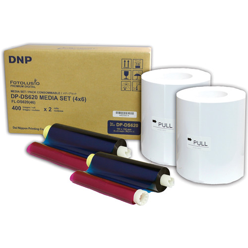 """DNP DS6204x6 4 x 6"""" Roll Media for DS620A Printer (2-Pack)"""