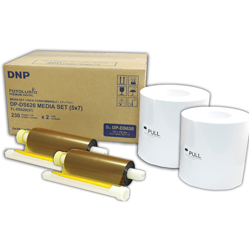 """DNP DS6205x7 5 x 7"""" Roll Media for DS620A Printer (2-Pack)"""