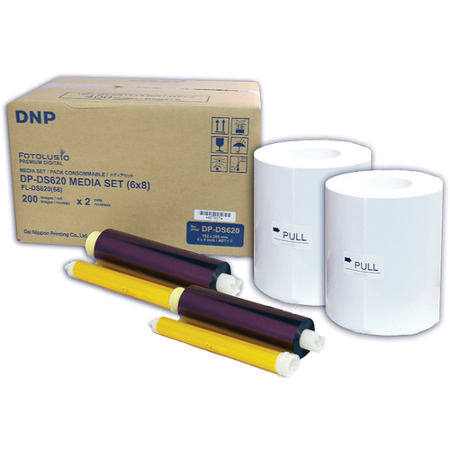 """DNP DS6206x8 6 x 8"""" Roll Media for DS620A Printer (2-Pack)"""
