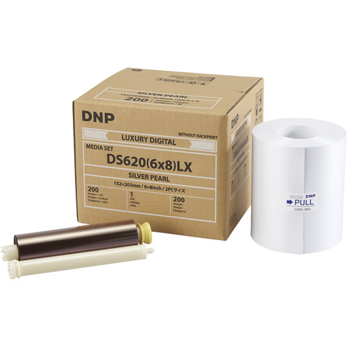 """DNP 6 x 8"""" Silver Pearl Luxury Media Set for DS620A Printer"""