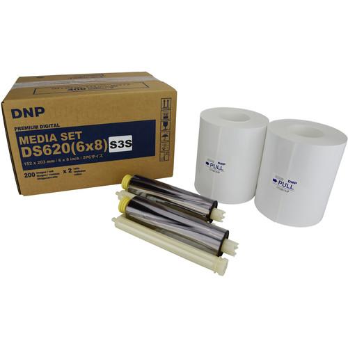 "DNP 6 x 8"" Triple Strip Sticker Media Set for DS620A Printer (2-Pack)"