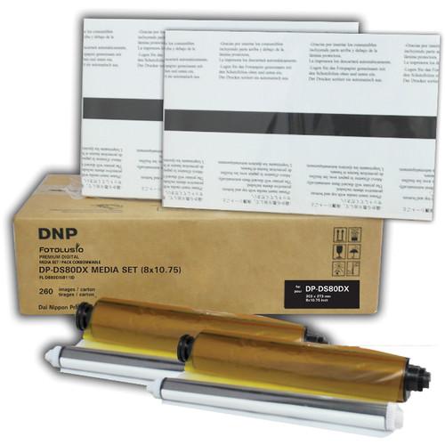"DNP DS80D8x10C 8 x 10"" Media Set for DS80DX Printer (2-Pack)"