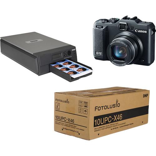 DNP ID400W Wireless Passport Printer & Canon G15 Kit