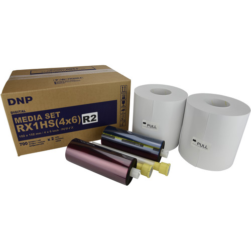"""DNP 4 x 6"""" Single Perforated Media Set for DS-RX1HS Printer (2-Pack)"""