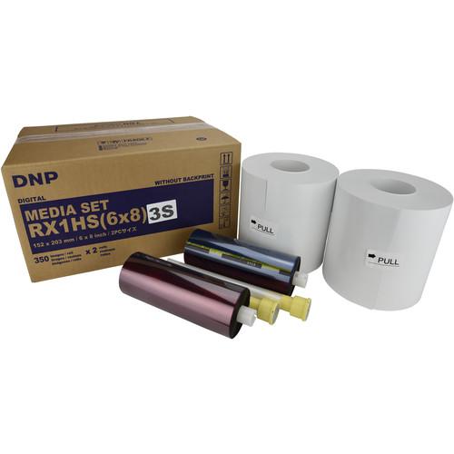 "DNP 6 x 8"" Triple Strip Media Set for DS-RX1HS Printer (2 Rolls)"