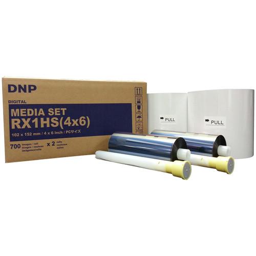 "DNP 4 x 6"" Media Set for DS-RX1HS & RX1 Printers (2 Rolls)"