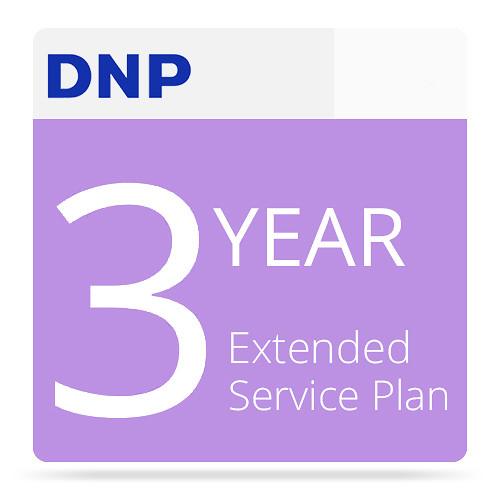 DNP 3-Year Extended Service Plan for DS820A Photo Printer