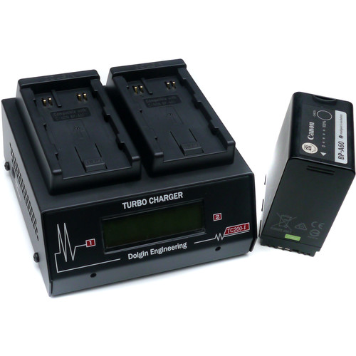 Dolgin Engineering TC200-i-TDM Two-Position Simultaneous Battery Charger for Canon BP-A30 and BP-A60