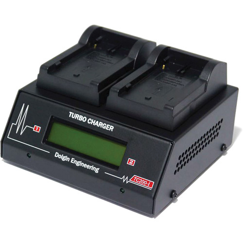Dolgin Engineering TC200-i-TDM Two-Position Simultaneous Battery Charger for Canon BP-900 Series