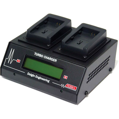 Dolgin Engineering TC200-i Two Position Battery Charger for Canon LP-E8 with Test Discharge Module