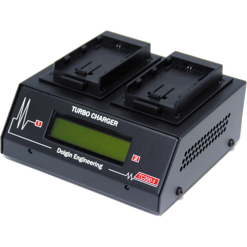 Dolgin Engineering TC200-i Dual Slot Battery Charger for Canon LP-E6