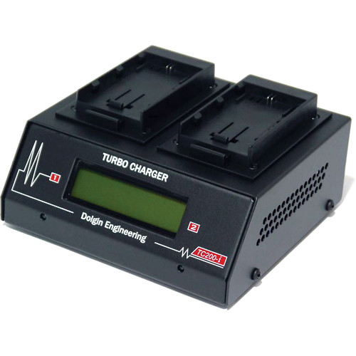Dolgin Engineering TC200-i Two Position Battery Charger for Canon LP-E6 with Test Discharge Module