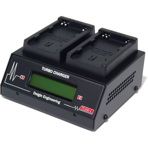 Dolgin Engineering TC200-i Two-Position Charger Kit with 2 x Sony BPU-60 Batteries