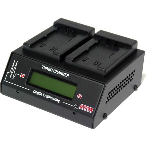 Dolgin Engineering TC200-i-TDM Two-Position Simultaneous Battery Charger for Panasonic VBD58, VBR118G, VBR89G, VBR59P, and D54