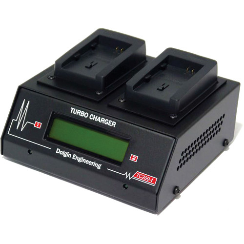 Dolgin Engineering TC200-i Two Position Battery Charger for Sony NP-FW50 with Test Discharge Module