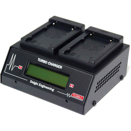 Dolgin Engineering TC200-i Two-Position Simultaneous Battery Charger for Sony L-Series