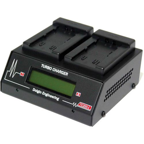 Dolgin Engineering TC200-i-TDM Two-Position Simultaneous Battery Charger for JVC50, JVC75, and S-8I50
