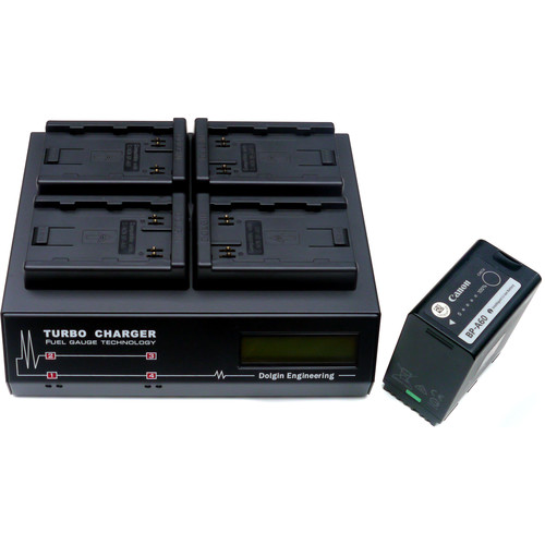 Dolgin Engineering TC400-TDM Four-Position Simultaneous Battery Charger for Canon BP-A30 and BP-A60