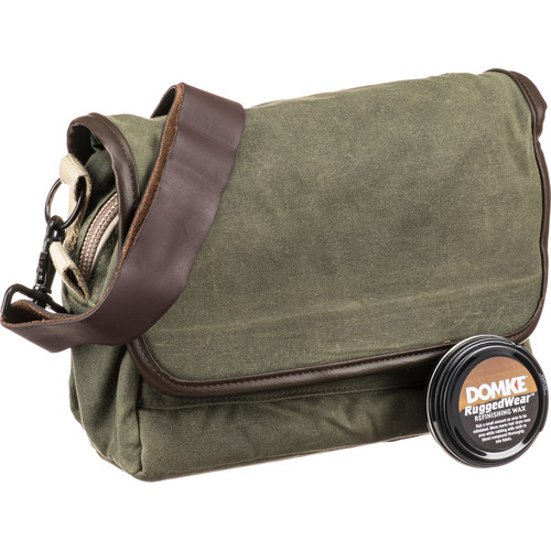 Domke F-5XB RuggedWear Shoulder and Belt Bag (Military Green/Brown Trim)