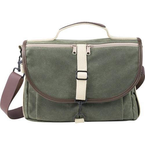 Domke F-803 RuggedWear Messenger Bag (Military Green/Brown Trim)