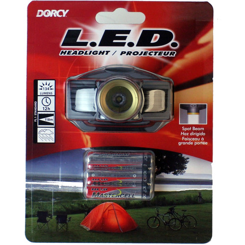 Dorcy 41-2097 134-Lumen Spot Beam Headlight (Black / Gold Bezel)