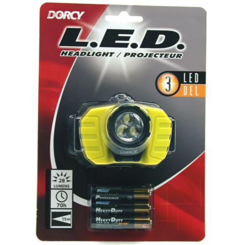 Dorcy 41-2099 28-Lumen LED Headlight (Yellow/Black)