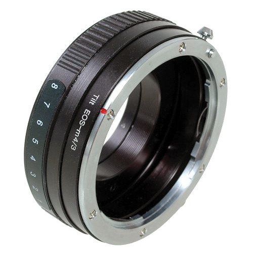 Dot Line Canon EF Lens to Micro Four Thirds Camera Tilting Lens Mount Adapter