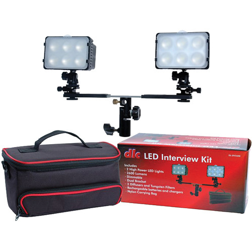 Dot Line LED 2-Light Interview Kit with Case