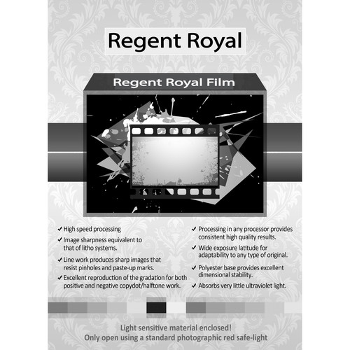 "Regent Royal Film Regent Royal Hard Dot Camera Film (16 x 20"", 25 Sheets)"