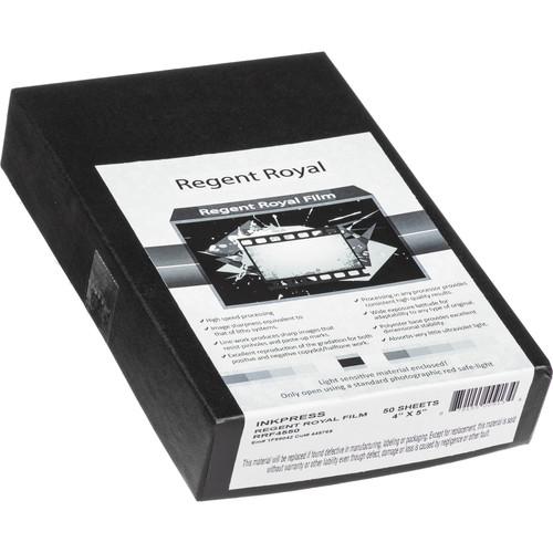 "Regent Royal Film Regent Royal Hard Dot Camera Film (4 x 5"", 50 Sheets)"