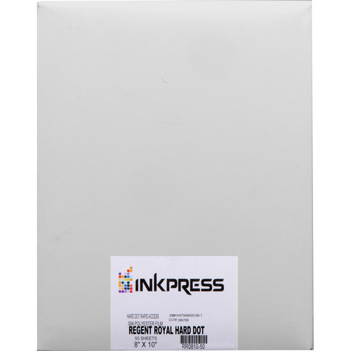 "Regent Royal Film Regent Royal Hard Dot Camera Film (8 x 10"", 50 Sheets)"