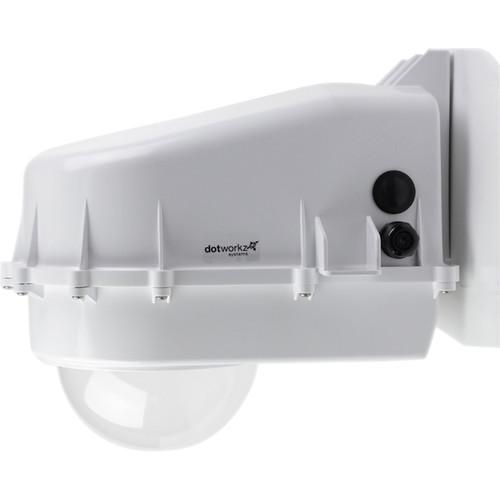 Dotworkz D2 Ring of Fire De-Icing Outdoor Camera Enclosure with Multi Volt Platform & Vandal Tough Tinted Lens