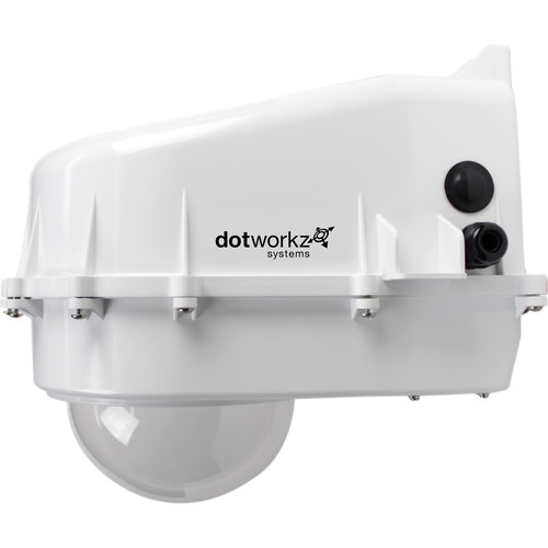 Dotworkz D2 Power Saver Tornado Dual Blower Outdoor PoE Ready Camera Enclosure with Tinted Lens