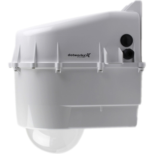 Dotworkz D3 Power Saver Outdoor Camera Enclosure with Heater & Blower, High-Power PoE Ready with Tinted Lens